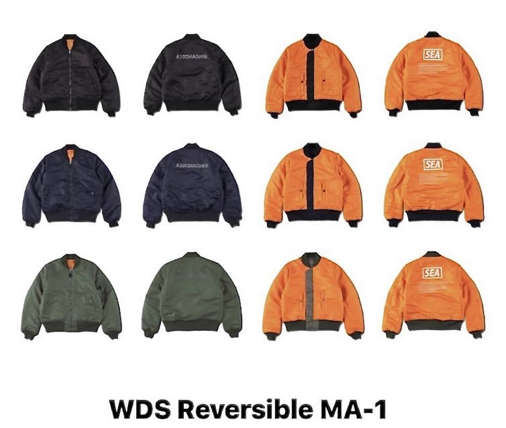 WIND AND SEA 「REVERSIBLE MA-1」1月4日土曜日発売