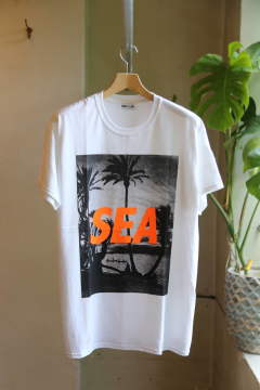 "T-SHIRT PALM TREE PHOTO ""WHITE"""