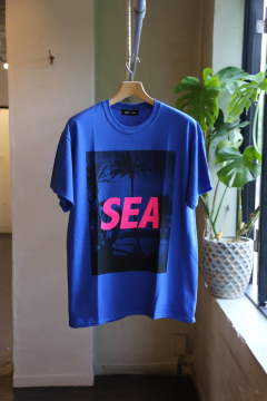 "T-SHIRT PALM TREE PHOTO ""BLUE"""