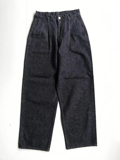 "Colorfast Denim 2 Tucks Pants""INDIGO"""