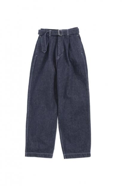 "Colorfast Denim Belted Pants""INDIGO"""