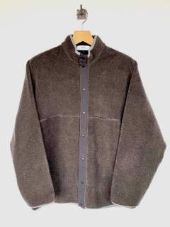 "Wool Boa Hi-Neck Full Open Blouson""GRAY"" (GU193-70042)"