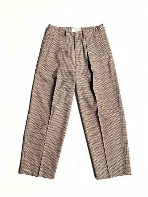 "1TUCK WIDE TROUSERS ""BEIGE PLAID""(YK19AW0048P)"