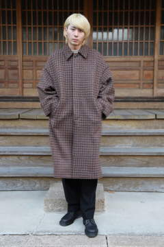 "DOUBLE JQUARD KNIT BAL COLLAR COAT""BROWN""(YK19AW0044C)"