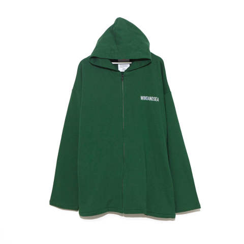 "SEA BIG ZIP HOODIE""GREEN""(WDS-19A-SW-09)"