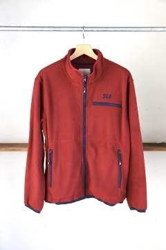 "WDS SWITCH FLEECE BLOUSON""BURGUNDY""(WDS-19A-JK-06)"