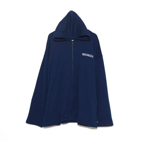 "SEA BIG ZIP HOODIE""NAVY""(WDS-19A-SW-09)"