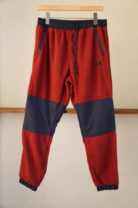 "WDS SWITCH FLEECE PANTS""BURGUNDY""(WDS-19A-PT-06)"