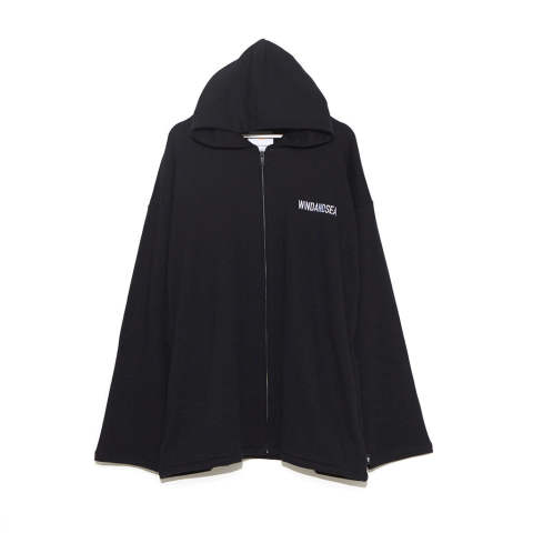 "SEA BIG ZIP HOODIE""BLACK""(WDS-19A-SW-09)"