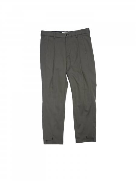 "SWITCHING TUCK SLACKS ""CHARCOAL GRAY""(Jie-20S-PT05)"