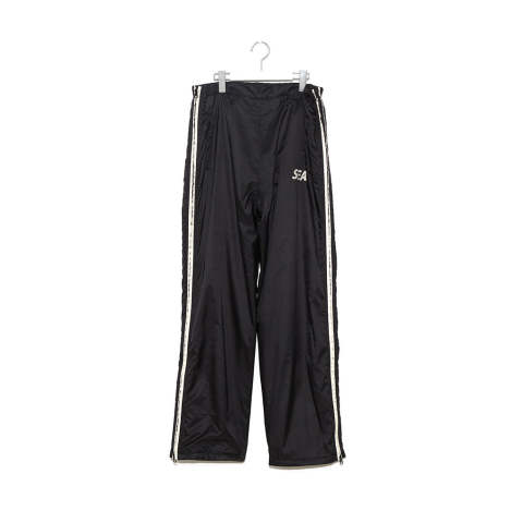 "WDS SIDE ZIP NYLON PANTS""BLACK""(WDS-19A-PT-07)"