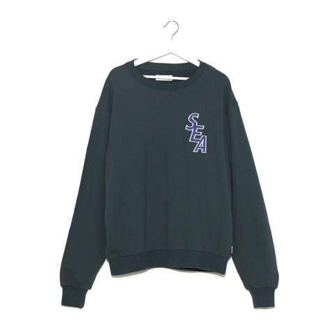 "S-E-A SWEAT SHIRT""GREEN""(WDS-19A-SW-02)"