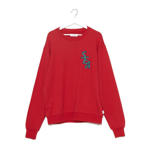"S-E-A SWEAT SHIRT""RED""(WDS-19A-SW-02)"