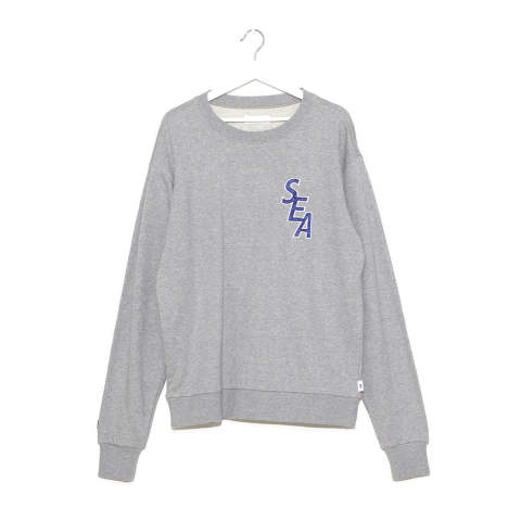 "S-E-A SWEAT SHIRT""GRAY""(WDS-19A-SW-02)"