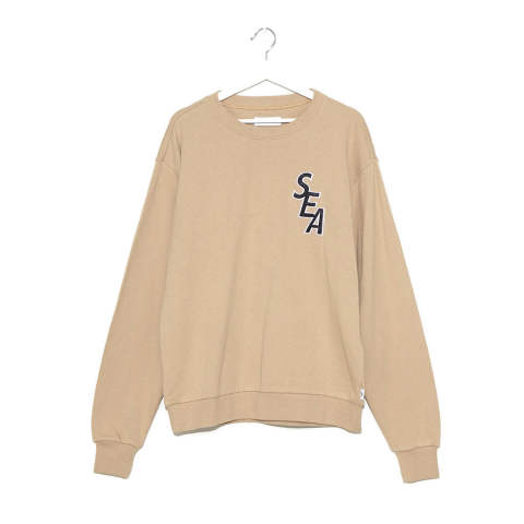 "S-E-A SWEAT SHIRT""BEIGE""(WDS-19A-SW-02)"