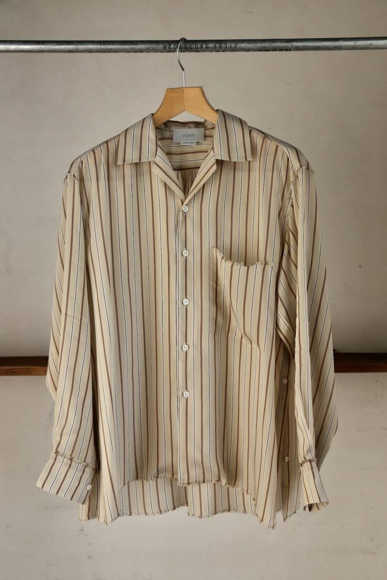 YOKE「OVERSIZED STRIPE SHIRTS」