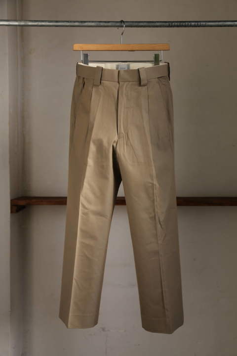 "1TUCK EASY TAPERED PANTS""KHAKI""(YK20SS0086P)"
