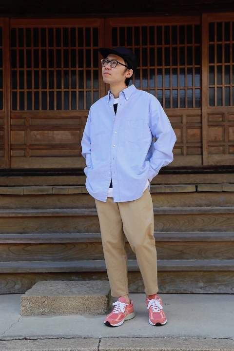 "Graphpaper Oxford L/S B.D Box Shirt""BLUE""MIX.Style.2019.4.6."