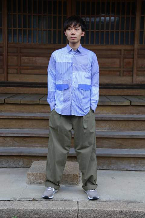 "Graphpaper Military Cloth Belted Pants""KHAKI""Style.2019.7.31."