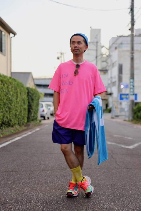 "WIND AND SEA CLASSIC logo TEE""FS PINK""スタイル.2019.8.16."