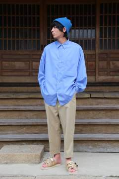 "Graphpaper(グラフペーパー)Broad Regular Collar Oversized Shirt""BLUE""Style.2019.8.20."