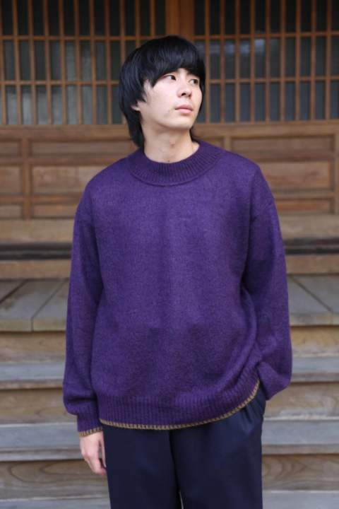 "WELLDER Airy Loose Knit""PUPLE&Camel Line""Style.2019.9.18."