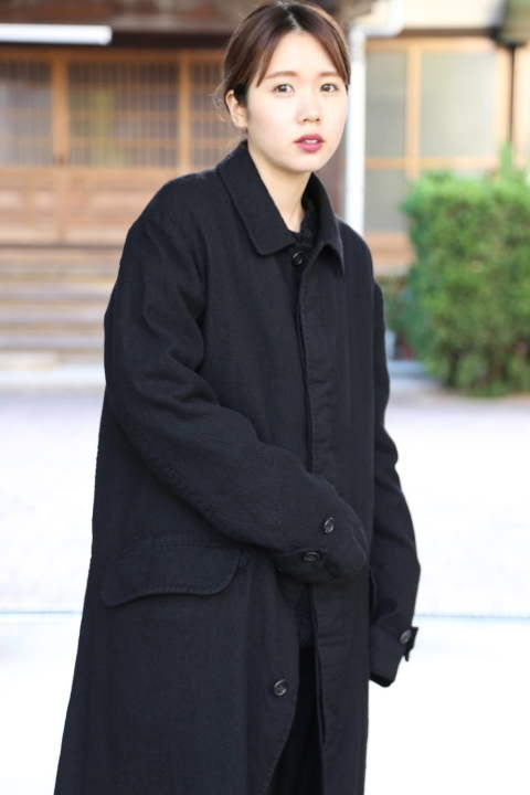 "COMME des GARCONS HOMME ウールサージコート""BLACK""style.2019.11.12"