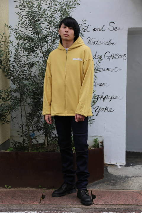 "WIND AND SEA SEA BIG ZIP HOODIE""YELLOW""(WDS-19A-SW-09) スタイル.2019.11.10."