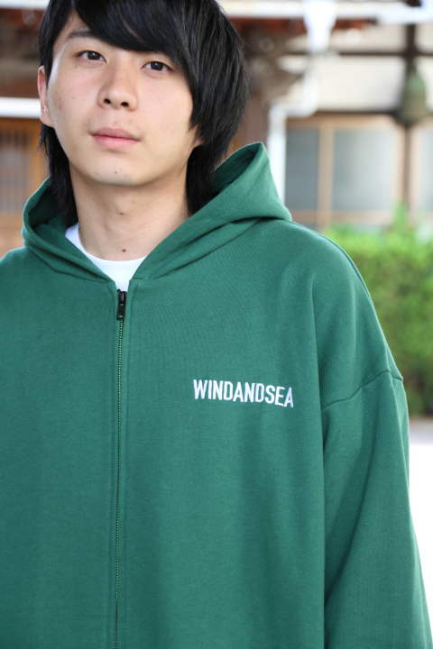 "WIND AND SEA SEA BIG ZIP HOODIE""GREEN""(WDS-19A-SW-09) スタイル.2019.11.10."