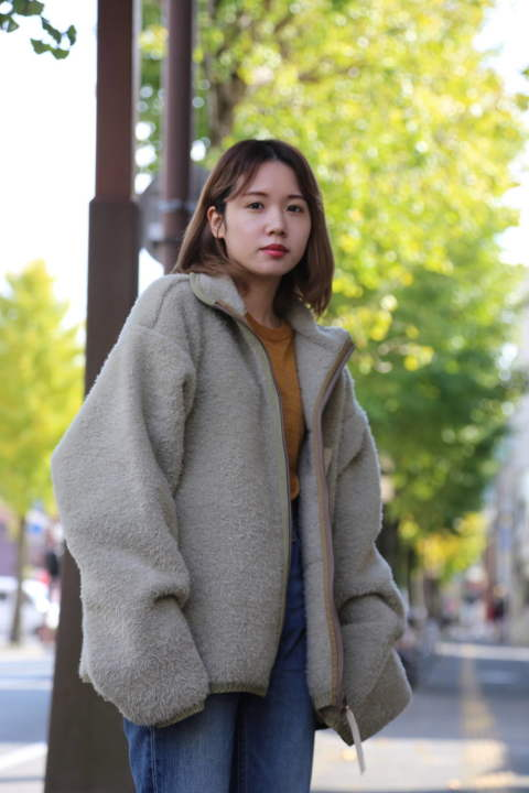 "YOKE 3G KNIT FLEECE BLOUSON""SAND BEIGE""style.2019.11.13"