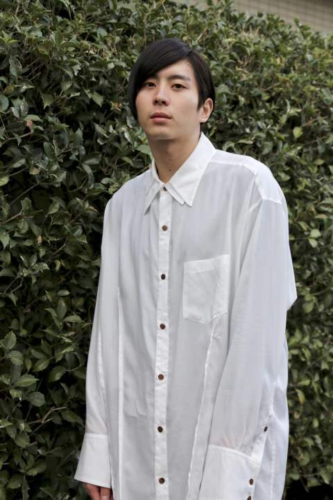 "sulvam over w.collar SH(SL-B06-010)""WHITE""スタイル.2019.12.15"
