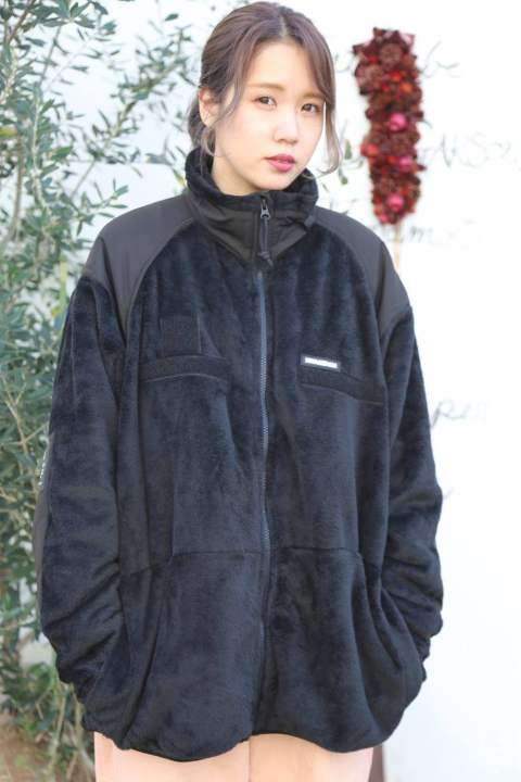 "WIND AND SEA  WDS MILITARY FLEECE JACKET""BLACK""style.2019.12.4"
