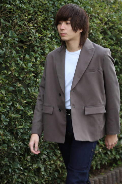 "JieDa TAILORED JACKET""CHORCOL GRAY""Style.2020.1.28."