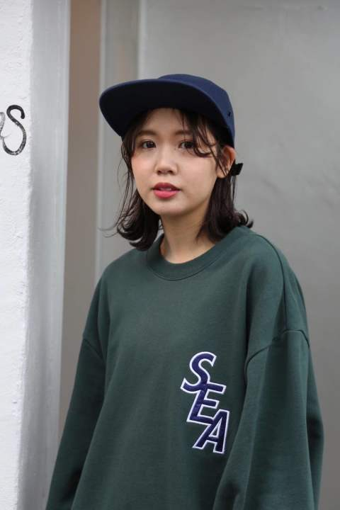 "WIND AND SEA  S-E-A SWEAT SHIRT""GREEN""style.2020.1.22"
