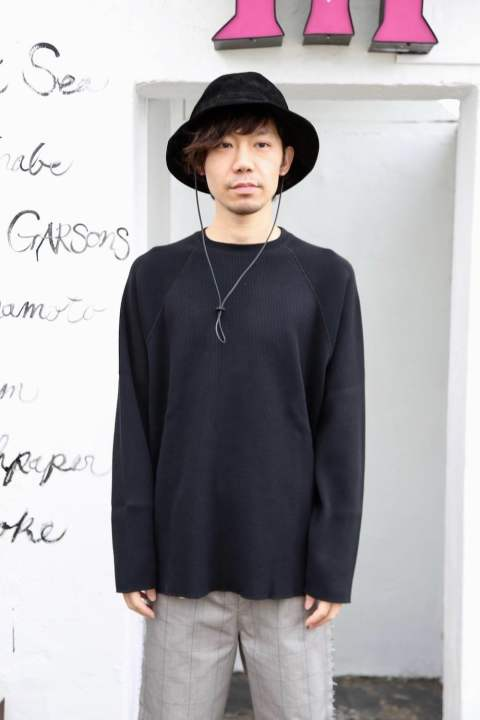 "Graphpaper Waffle L/S Tee""BLACK""Style.2020.1.21."