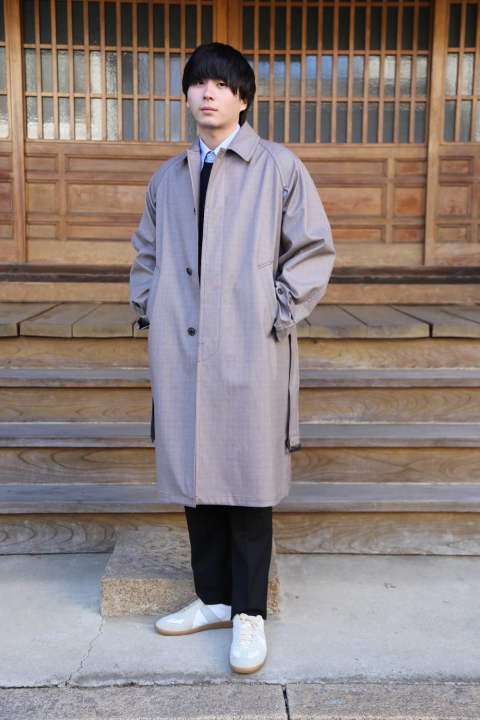 "DOPWNSING BAL COLLAR COAT""GLEN CHECK"""