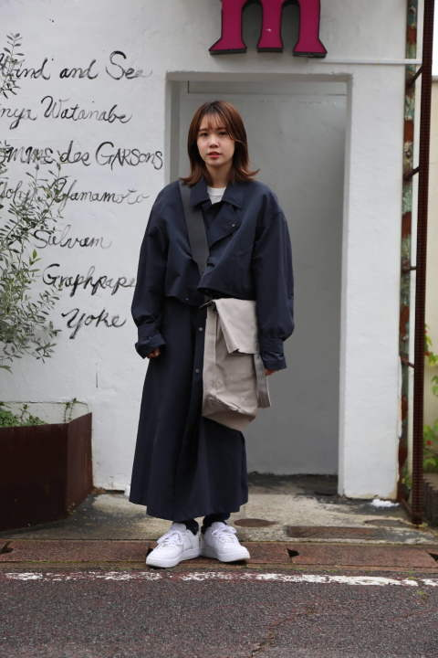 "YOKE 2020SS新作 DETACHABLE DUSTER COAT""NAVY""style.2020.2.25"