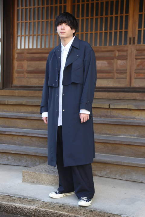 YOKE DETACHABLE DUSTER COAT style.2020.2.22