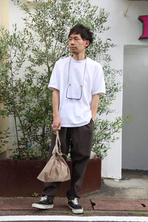 "Graphpaper Stretch Typewriter Cook Pants""GRAY""Style.2020.5.31."