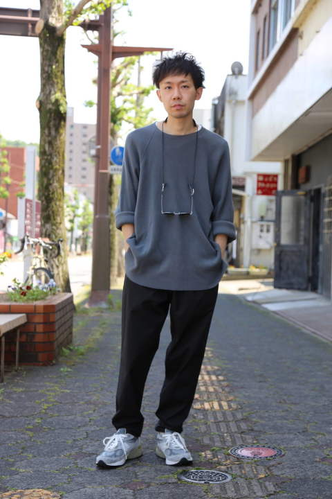 "Graphpaper Stretch Typewriter Cook Pants""BLACK"" Style.2020.6.2."
