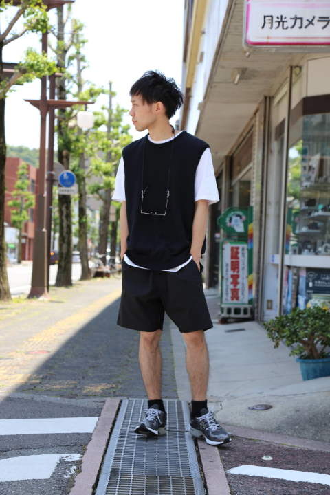"Graphpaper Suvin Vest""BLACK""Style.2020.6.7."